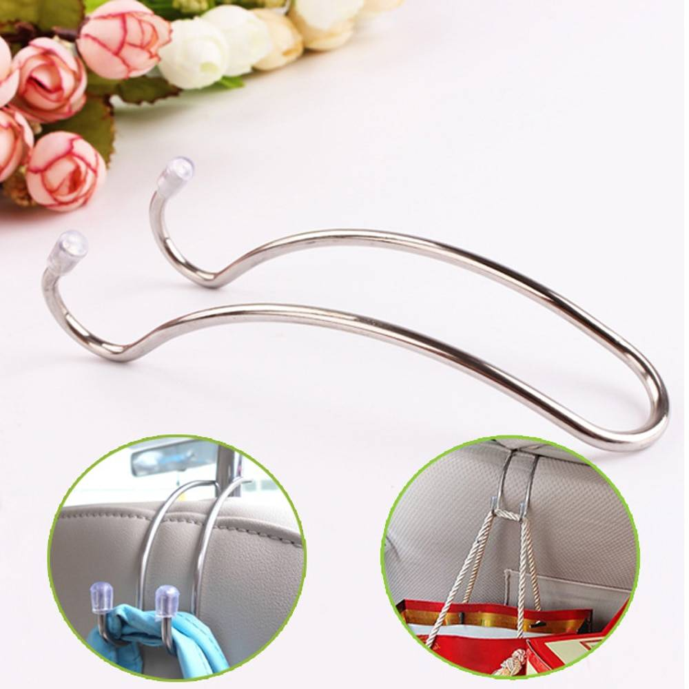 Multi-functional Metal Auto Car Seat Headrest Hanger Bag Hook Holder for Bag Purse Cloth Grocery Storage Auto Fastener Clip