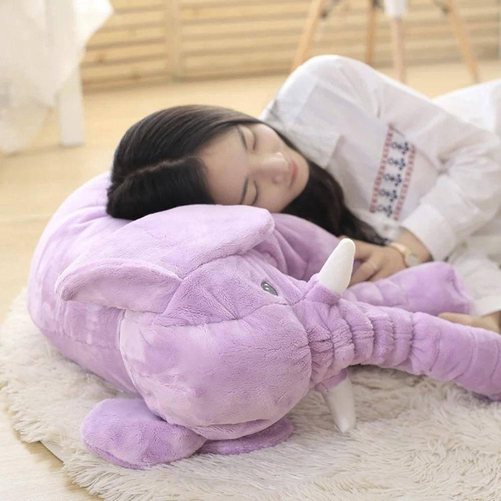 40cm/60cm Height Large Plush Elephant Doll Toy Kids Sleeping Back Cushion Cute Stuffed Elephant Baby Accompany Doll Xmas Gift Toys Height : 40cm|60cm