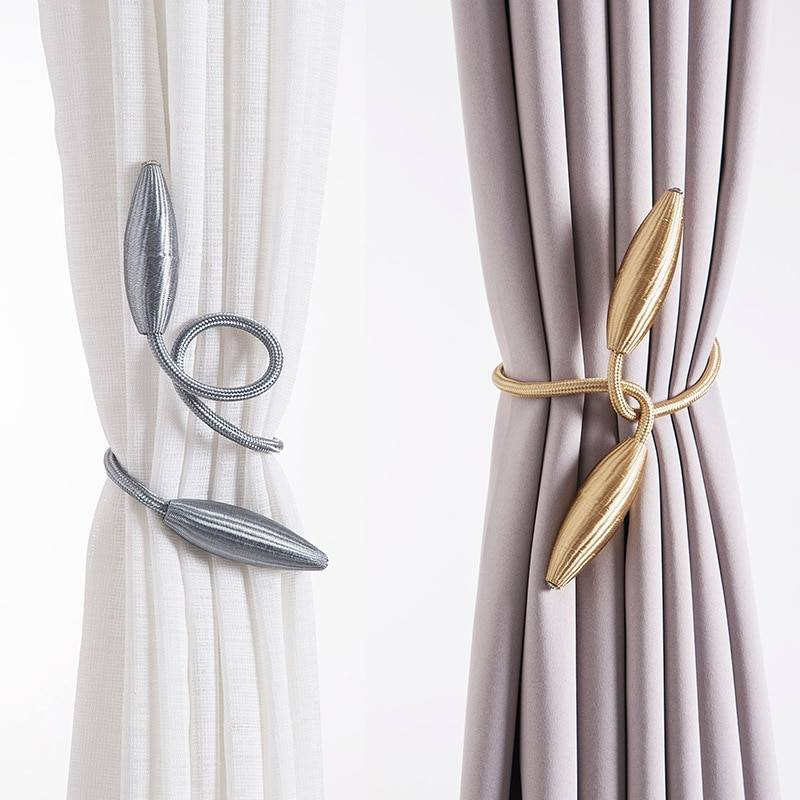 Arbitrary shape strong Curtain Tiebacks Plush Alloy Hanging Belts Ropes Curtain Holdback Curtain Rods Accessoires Color : Lake blue|Beige|Pink|Light coffee|Black coffee|red|Gold|Golden|purple|gray|white