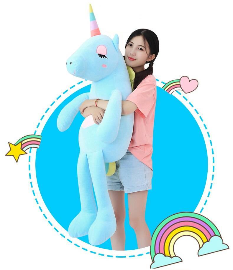 New Large Soft Unicorn Animal Plush Toy Stuffed Toy Girl Gift Children's Toy Sofa Pillow Cushion Home Decoration Toys Height : 60cm|85cm|140cm|110cm