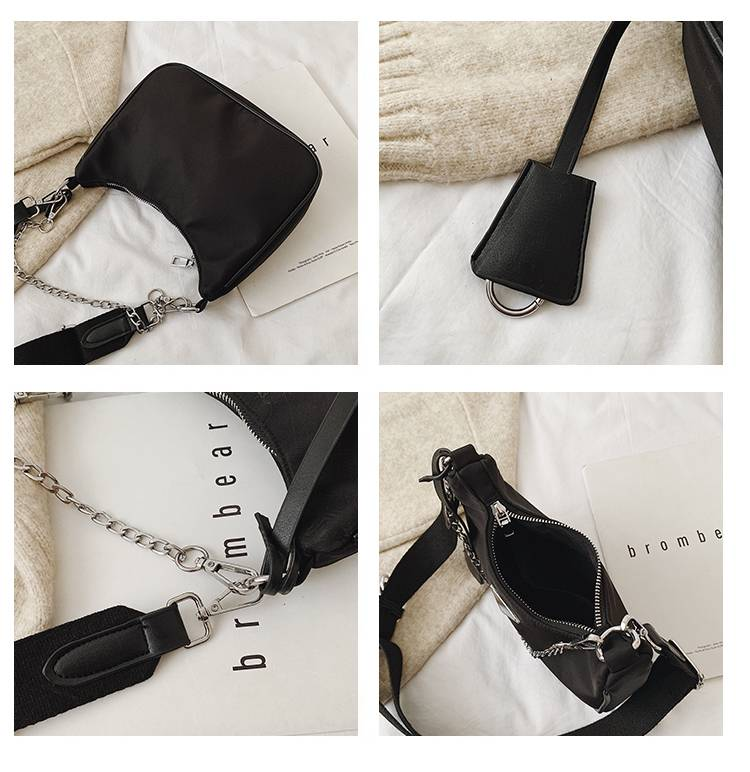 Women Crossbody Bag Causal Luxury Handbags Women Bags Designer With Mini Pocket Luxury Brand Female Shoulder Messenger Bag Color : Black shoulder bag Khaki shoulder bag