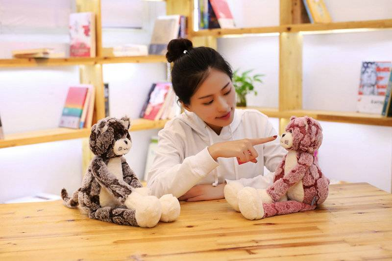 1Pc Plush Toy Soft Cat Black Gray Cat Plush Toys Lovely Anime Cat Doll Birthday Chrismas Gift for Children Cat Doll Baby Doll Toys Height : 70cm|90cm|50cm
