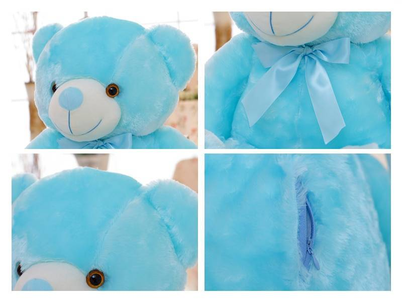 50cm Creative Light Up LED Teddy Bear Stuffed Animals Plush Toy Colorful Glowing Christmas Gift for Kids Pillow Toys Height : About 50cm