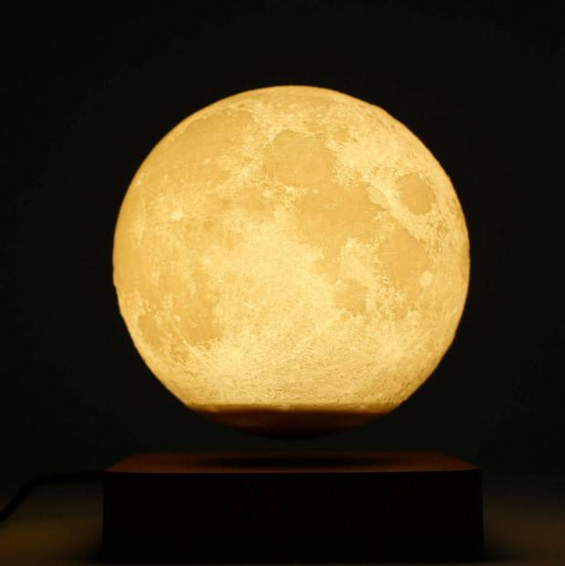 Magnetic Levitation LED Moon Night Home & Garden Color : Dark Brown|Light Brown