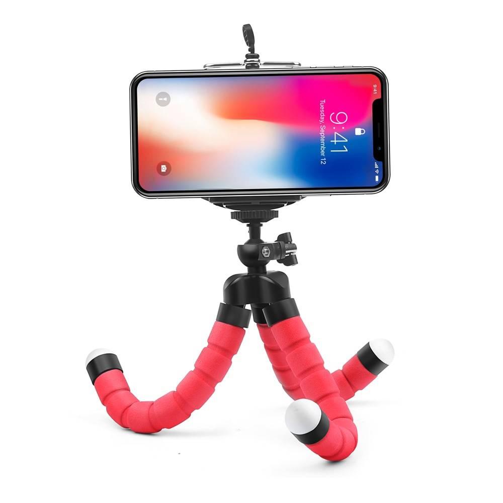 SHOOT Mini Flexible Sponge Octopus Tripod for iPhone Samsung Xiaomi Huawei Mobile Phone Smartphone Tripod for Gopro 8 7 5 Camera