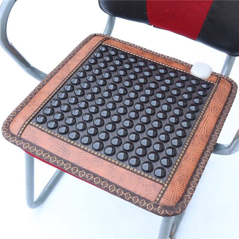 220V Infrared Heating Natural Jade Massage Mat Heated Tourmaline Rug Cushion Slab Heating Heated Mat Carpet for Office Car Home
