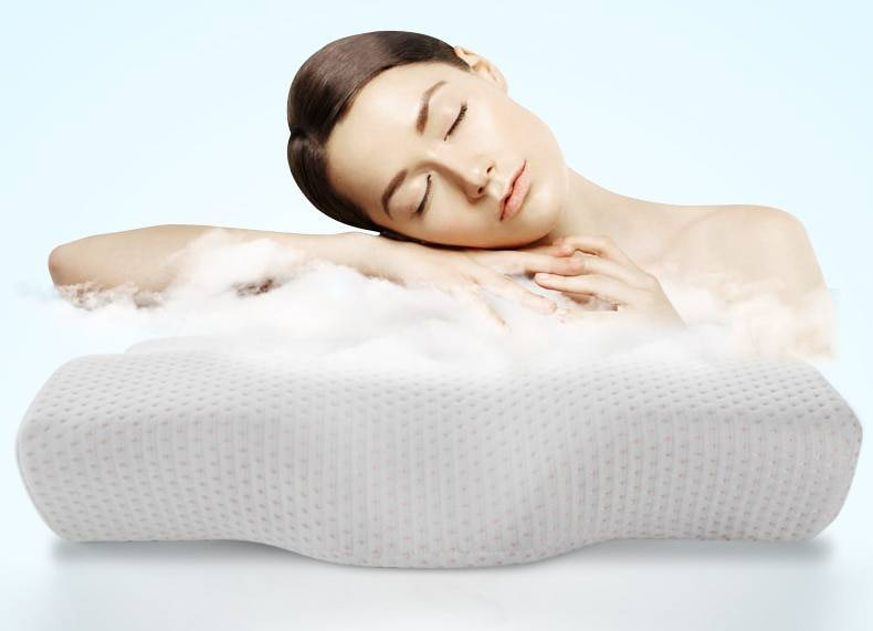 Memory Foam Bedding Pillow Neck protection Slow Rebound Memory Foam Butterfly Shaped Pillow Health Cervical Neck size in 50*30CM